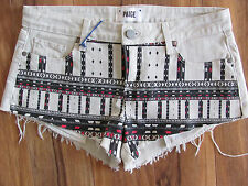 Paige Denim Cut Off Shorty Mini Shorts -Echo Park Grey Nomad-Size 27  NWT $139