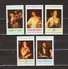 STAMPS BULGARIA 1986 SC # 3215-3218, 3220 Art Paintings by Titian MNH
