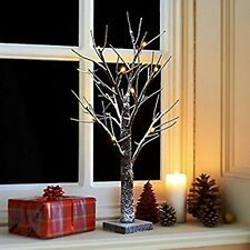 2ft Snowy Twig Tree Pre-lit 24 LED Warm White   BATTERY OPERATED