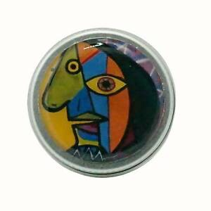 10ML ROUND HANDMADE DECORATED TIN  MINTS LIP BALM RINGS PABLO PICASSO CUBISM ART