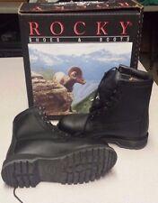 Rocky Cold Weather Safety Boots Steel Toe 4.5 Wide Black Waterproof USGI Vibram