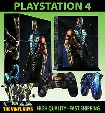 Ps4 Pelle Mortal Kombat X SUB Adesivo NINJA GHIACCIO ZERO NUOVO + Pad decalcomania in vinile in piedi