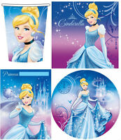 CINDERELLA 40 Piece Party Pack Plates Cups Loot Bags Napkins Birthday Kids