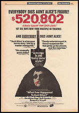 WHAT EVER HAPPENED TO AUNT ALICE?__Original 1969 Trade AD / poster__horror promo