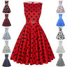 HOUSEWIFE 50s 60s Vintage Women Ladies Floral Swing Party Cocktail Evening Dress