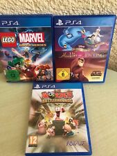 Disney Classic Games Aladdin and the Lion King + Lego Marvel + Worms ps4