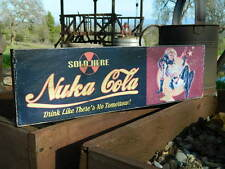 "Distressed Primitive Country Wood Sign - Fallout Nuka Cola sign 5.5"" x 19"""