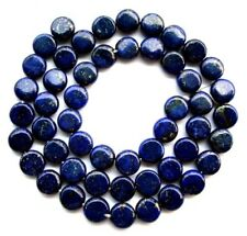 Natural Lapis Lazuli Flat Coin/Disc Beads 8mm15.8""
