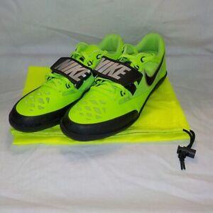 Nike Zoom SD 4 Shotput Discus Throw Shoes ELECTRIC GREEN BLACK 685135 300