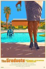 The Graduate Movie Poster Art Print Laurent Durieux Dustin Hoffman VTG Mondo