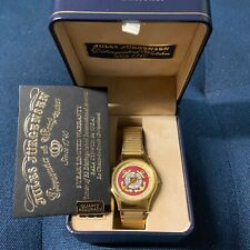 Jules Jurgensen mens watch, good condition with box, gold colored