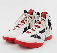 NIKE HYPERFUSE Hi High Top Basketball Shoes Athletic - White Red Black - Men's 8