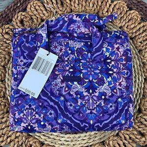 Vera Bradley Regal Rosette Purple Iconic Folding Compact Hanging Organizer NWT