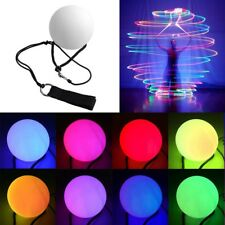 7 Colors POI LED Thrown Balls Light Up For Professional Belly Dance Hand Prop DE