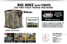 NEW Barronett Big Mike with Vents BMV01BW Cool Ground Blind Archery Deer Hunting
