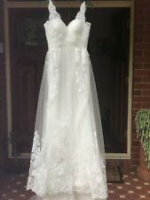 NEW Stunning Tulle/ Lace Vintage Style Wedding Dress   Eltham North Size 12