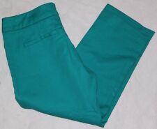 Carole Little Womens Capri Cropped Trouser Style Pants Teal Green Size 2