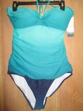 NEW Ralph Lauren SWIMSUIT Size 14 44 Island Ombre Green Blue $149 Retail