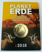 5x5 Euro Münzen Planet Erde Subtropische Zone Komplettset ADFGJ +Original Folder