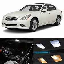 2007-2014 G35 G37 White Interior + License Plate LED Lights Package Coupe Sedan