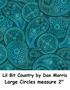 Lil Bit Country Paisley T cotton quilt fabric Quilting Treasure fabrics Western