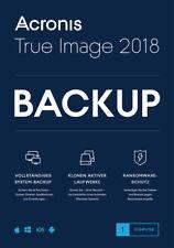 Acronis True Image 2018* 1-PC Dauerlizenz / Datensicherung/HDD-Copy / KEY