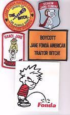 Vietnam VetsHate Jane Fonda patches