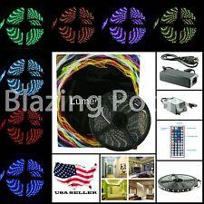RGB 5M 5050 IP65 Waterproof Flexible 300 LED Strip Lights Kit 44 Key -Black PCB-