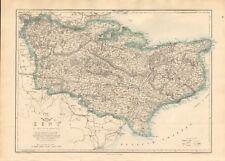 1863  LARGE ANTIQUE MAP - DISPATCH ATLAS- KENT