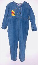 Vintage 2T 24m Winnie the Pooh Collection 1 Piece Denim Overalls Romper Toddler