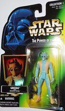 STAR WARS power of the force GREEDO bounty hunter 1997 green card moc potf 1996