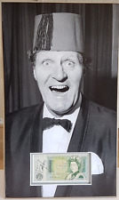 TOMMY COOPER signed mounted and matted original pound note 17x10