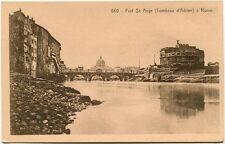 Primi '900 Roma Rome Fort St. Ange Tombeau D'Adrien Ponte FP B/N