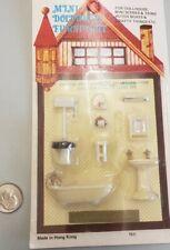 "Dollhouse Miniature 1/4"" Quarter Scale Bathroom fixtures1:48 lot of two"