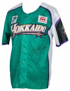 Shohei Ohtani Signed Blue Hokkaido Fighters Baseball Jersey BAS LOA