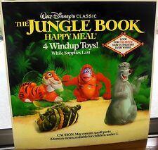 McDonalds Disney The Jungle Book Happy Meal Display Sign 1990 Translite