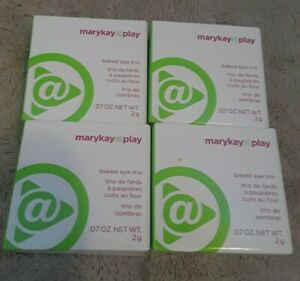 Lot of 4 Mary Kay At Play ~ Baked Eye Trio .07 oz ~ Out of the Blue 081938 ~ NEW