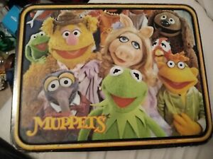 JIM HENSON'S MUPPETS 1979 METAL LUNCHBOX  by THERMOS MUPPET SHOW KERMIT