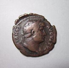 HADRIAN. AE AS. 117-138 AD, SALUS FEEDING SNAKE REVERSE. ROME 117-128 AD.