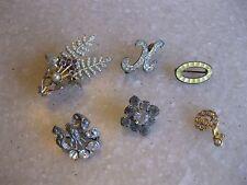 Lot Little Pins Brooches Older Vintage Antique +?/ Guilloche, Cherries, Letter K