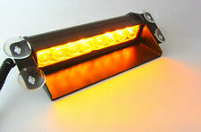 NEW 8 LED 3Mode Car/Truck Strobe Flash Emergency Windshield dash lights Amber