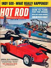 HOT ROD AUG 1963,INDY 500,SCTA DRY LAKES,XR-6 ROADSTER,AUGUST,HOTROD MAGAZINE