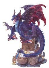"4.5"" Inch Three Headed Purple Dragon Statue Figurine Figure Fantasy Myth"