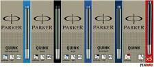PARKER QUINK INK FOUNTAIN PEN CARTRIDGES Washable Blue Black UK - MADE IN FRANCE