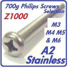 700g Philips Screw Selection - M3 M4 M5 M6 - Grade A2 Stainless Steel - Z1000