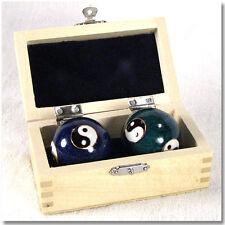 Chinese Harmony Balls Baoding cloisonne Hand Therapy Meditation Yin Yang