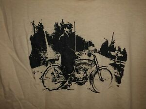 VTG 80's HARLEY DAVIDSON t-shirt tan Med Biker Classic Motorcycle