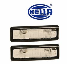 Set of 2 BMW E12 E23 E24 E28 E30 528e License Plate Lights HELLA 63261354665