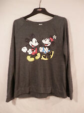 Disney Mickey & Minnie Mouse sparkly shirt long sleeve Xl girls 15/17