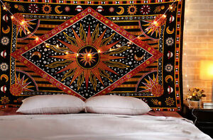 Abstract Wall Hanging Astrology Zodiac Tapestry Twin Boho Home Decor Bohemian